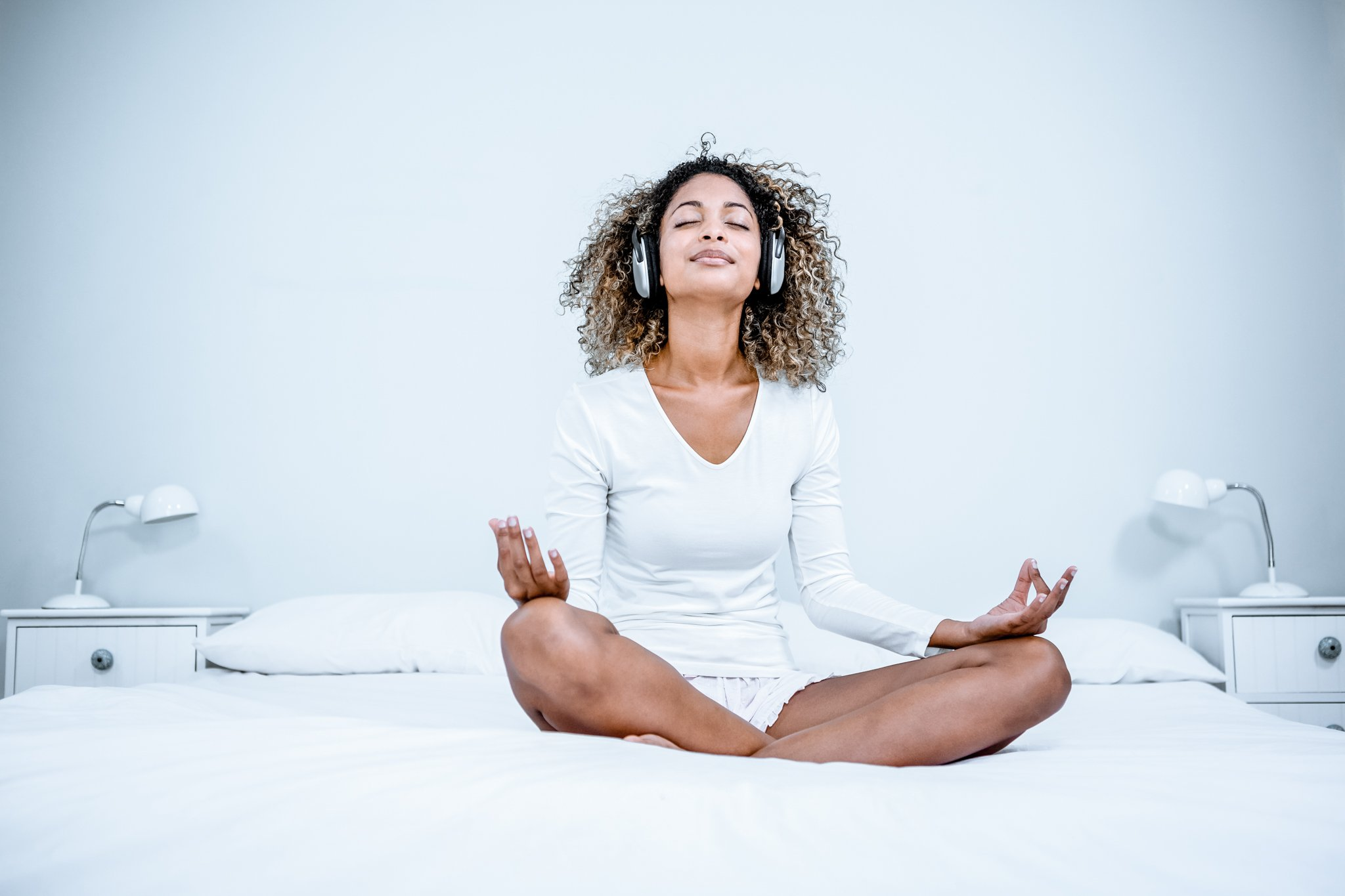 Woman taking part in Self Care Morning Routine